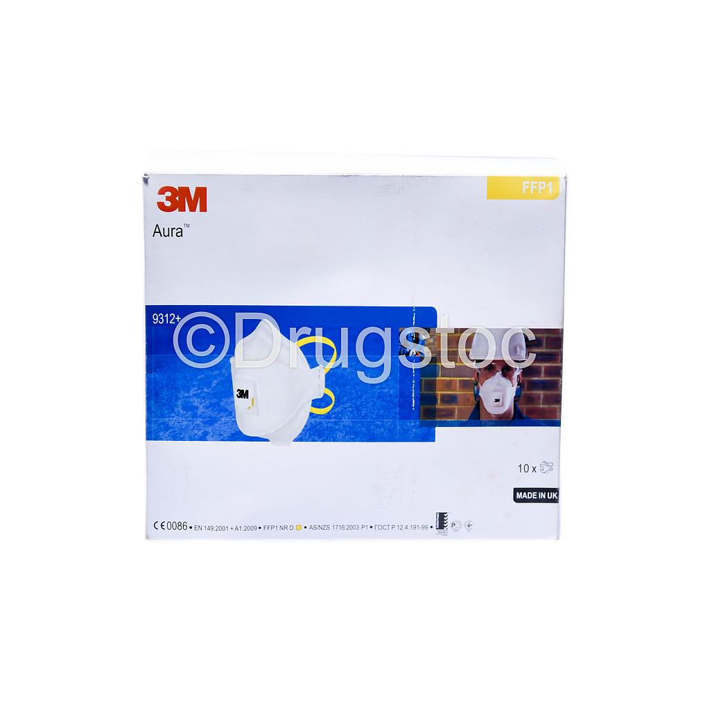 3M 9322 Face Masks with Respirator X 10